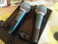 Beta 58a microphones x2