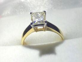 GIA CERTIFIED BRAND NEW WOMEN 1.40 CARAT DIAMOND RING