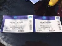 2 x Britney Spears Tickets Friday 24th Aug O2 London