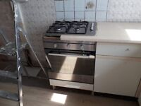 Indisit electric oven and logic 4 ring gas hob