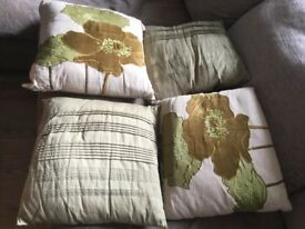 4 Sofa Cushions good condition £6 for 4