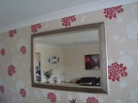 Large Brass Effect Mirror - 41 inches x 29 inches