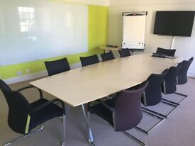 Board Room Table and 10 Chairs - in great condition!