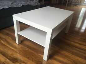 white caffee table
