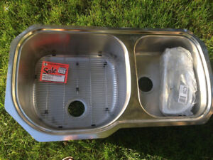Brand new high quality stainless steel double sink