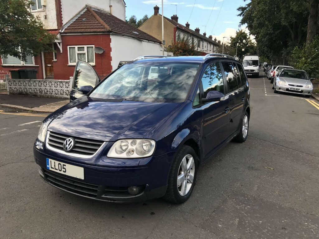 2005 05 volkswagen touran sport 2 0 tdi dsg 7 seater blue 125k miles 3 owner fully loaded mot. Black Bedroom Furniture Sets. Home Design Ideas