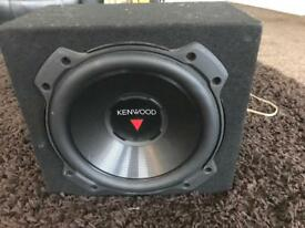 10 inch kenwood subwoofer in custom made box