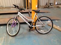 A nice ladies Lafayette pushbike. Silver and purple in colour. £50