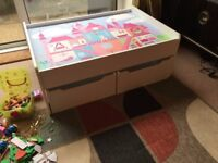 Child's Play and Storage table.....................ONLY £40..........