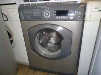 Hotpoint wmd940 washing machine with 8kg load capacity 1400 spin in silver graphite