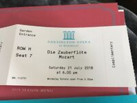 2x Tickets to Garsington Opera 21 July 2018