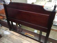 Stag Minstral bedside cabinet and double bed headboard