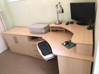 Corner Desk & Office Furniture (3-piece)