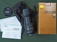 Nikon 18-200mm F/3.5-5.6 G VR II (2) AF-S ED DX Zoom Nikkor Digital Camera Lens
