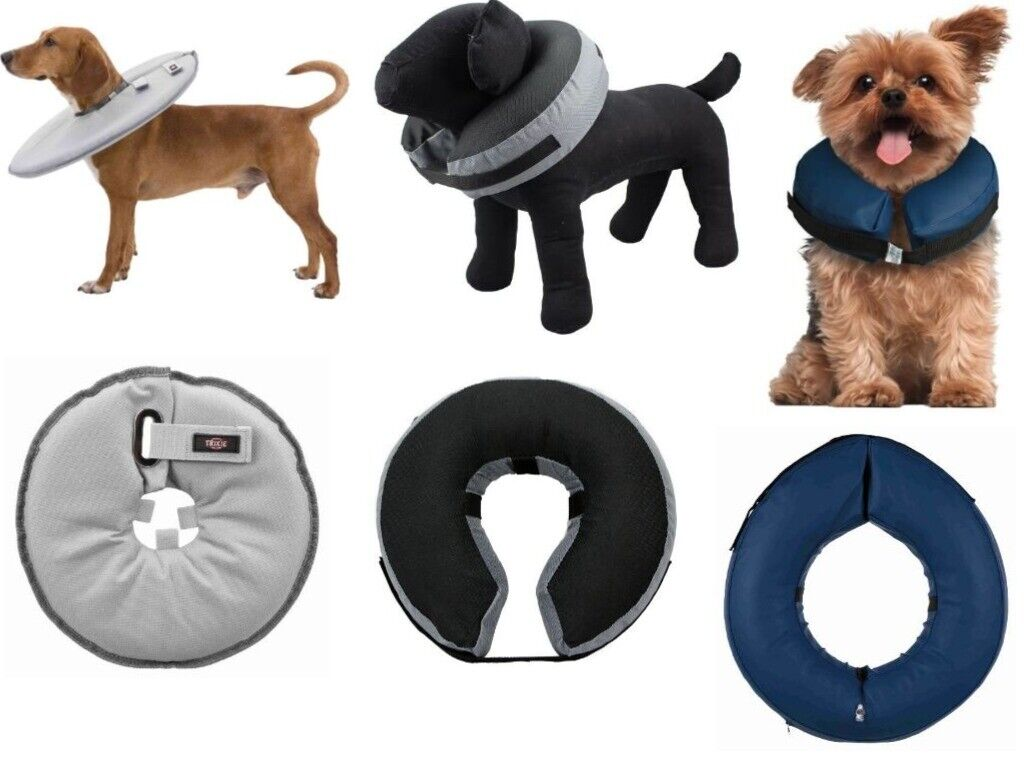 Halskrause Halskragen Schutzkragen aufblasbar Schutz- Trichter für Hund & Katze