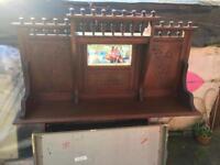 Antique shabby cihic style old wood shelf old style £35