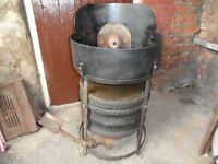 Blacksmiths coke forge with under slung bellows