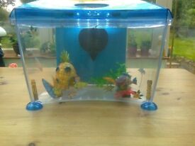 Small Fish Tank, ideal for starter or for child, includes filter, lighting and accessories