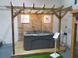 Hot tub, decking and pergola package