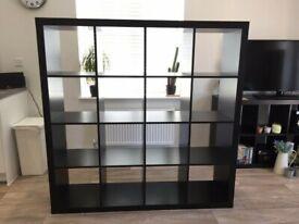 I can deliver - DARK BROWN IKEA KALLAX (4x4 squares) shelving unit