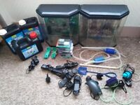 Fish keeping bundle fish tanks and accessories
