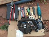 Job lot of plumbing based hand and power tools