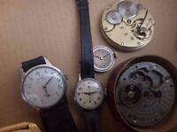 Vintage Wristwatches / collection Cyma Gerrard AVIA and other