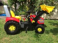 Ride-on tractor/digger great condition