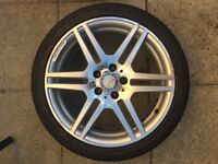 Genuine Mercedes amg alloys with tyres 18""