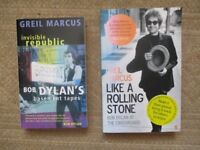 Bob Dylan Books - Like A Rolling Stone & Invisible Republic - Author Greil Marcus