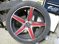Aluminum rims 17 inch Barrie with 215/45ZR17 91W TIRES Reduced