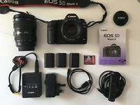 CANON 5D MKII with x2 EF LENSES AND EXTRAS. Excellent condition.