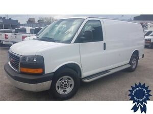 2015 GMC Savana Cargo Van Rear Wheel Drive - 20,345 KMs, 4.8L