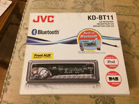 JVC Bluetooth car stereo.
