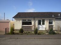 Almondbank - 1 Bed Semi Detached Bungalow garage. Gardens to front and rear.