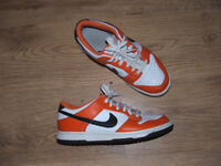 Nike 'iD': Orange/white Trainers - Size UK 7.5 (Eur42/US 8.5)