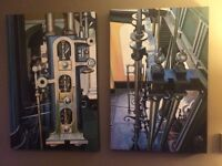 Two stunning signed oil paintings by acclaimed artist Rod Billington