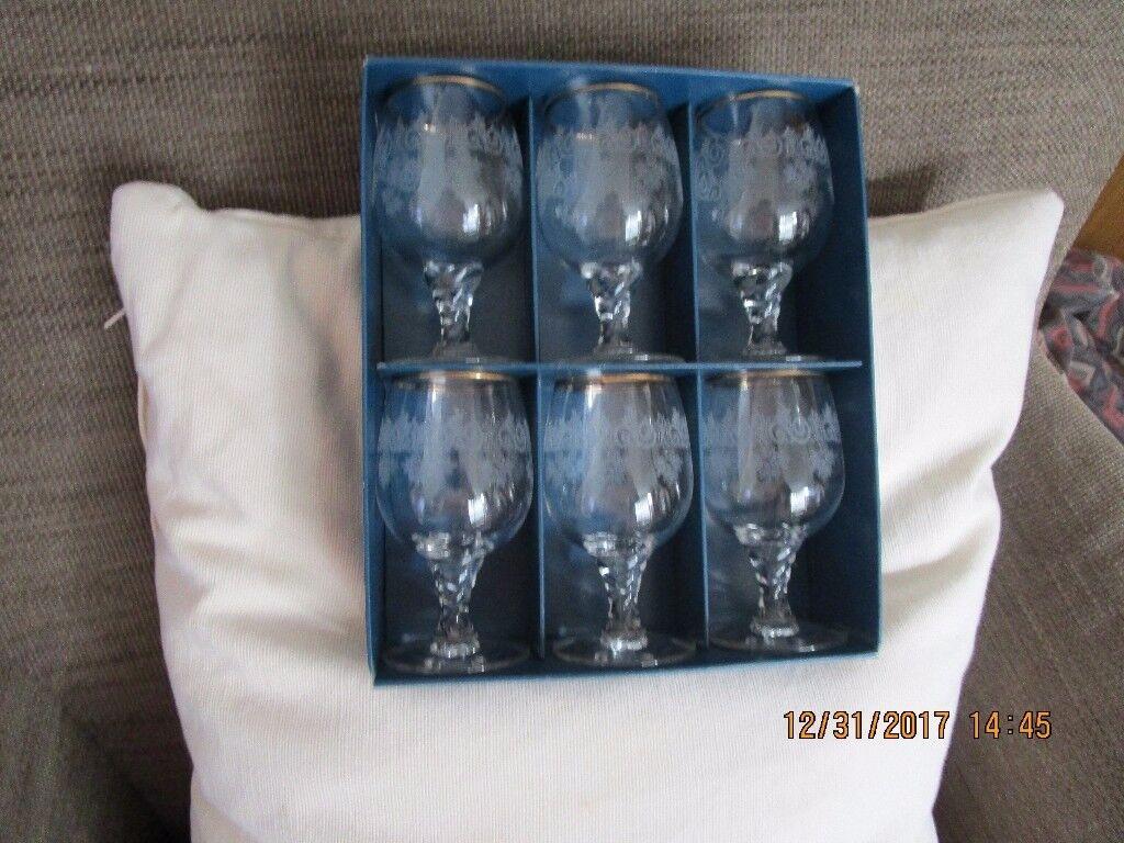 6 SHERRY/PORT GLASSES