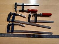 SOLD - 4 metal clamps