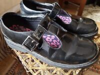 Girls Black Clark Shoes
