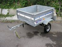 Small galvunished box trailer