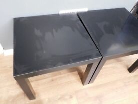 x2 Small tables black