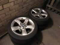 """Bmw 17"""" alloys with tyres"""