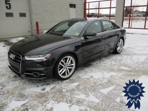 2017 Audi A6 3.0T Technik, Valcona Leather, S-line Sport Package