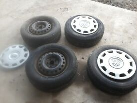 VW transporter steel wheels and trims