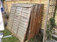 14 x 5' by 6' fence panels, used but useable condition, £20