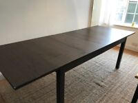 Extendable dining table (dark brown):IKEA