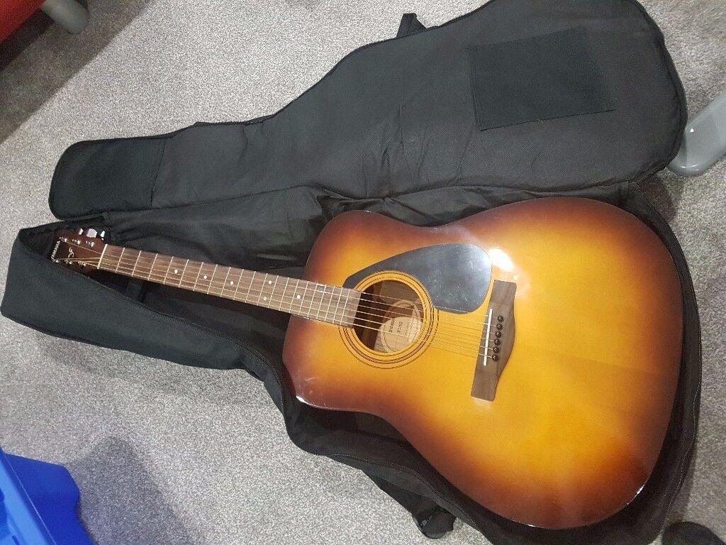 Yamaha f310 full size acoustic guitar tobacco brown for Yamaha fs 310 guitar