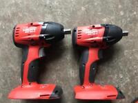 Hilti siw 22 a impact wrench x 2