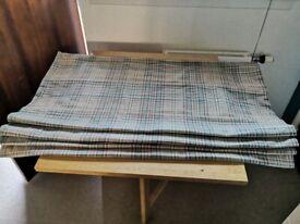 Beige and green tartan roller blind / roman blind £30